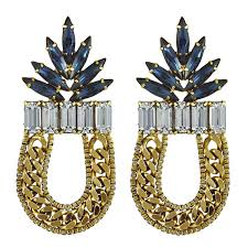 dannijo earrings dannijo sapphire amara earrings s closet