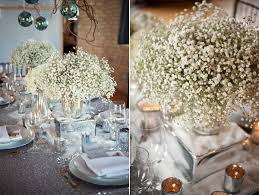 baby s breath centerpiece wedding flowers wedding baby s breath flowers