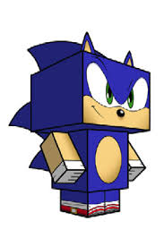 Sonic The Hedgehog Papercraft - free papercraft toys that you can make yourself cre8ive commando