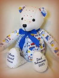 remembrance teddy bears beautiful handmade memory bears made with your own precious