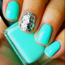 mint sparkle beauty nails pinterest sparkle nails