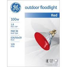 Walmart Flood Lights Ge Outdoor Floodlight 85 Watt Red Par38 1 Pack Walmart Com