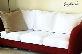slipcovers for pillow back sofas pillow back sofa slipcovers how to make a cushion cover attached