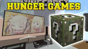 minecraft anime bedroom hunger games lucky block mod modded