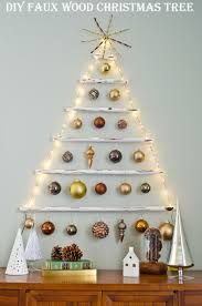 wood christmas tree craft christmas lights decoration