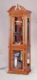 curio cabinet with light all new item solid oak chippendale style curio cabinet with interior