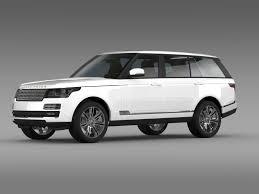 land rover autobiography white range rover autobiography black lwb l405 3d model max obj 3ds fbx