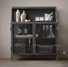 Metal Bar Cabinet Loft American Country Showcase Steel Cabinet Racks Wrought