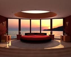 cream black and red curtains minimalist design ideas using round