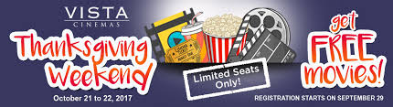thanksgiving offers lakwatsera vista cinemas offers thanksgiving treat