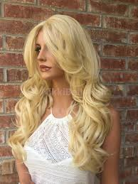curl in front of hair pic light blond loose curl hair swiss lace front wig 14 inches nikki