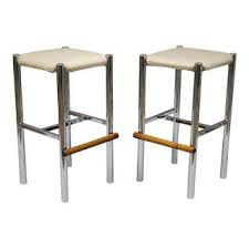 Modern Wood Bar Stool Vintage Used Bar Stools Chairish
