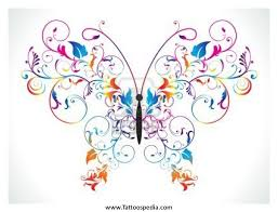 butterfly rainbow tattoos 1