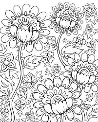 flower doodles doodle coloring pages