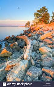 Smallwood Sunset On The Shores Of Fort Smallwood State Park In Maryland For