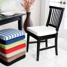 Small Bistro Chair Cushions Metal Cotton Cross Grey Hardwood Kitchen Chair Pads With Ties