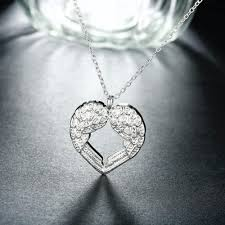 angel wings necklace images Heart shape angel wings necklace jpg