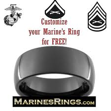 marine wedding rings usmc black tungsten ring customize your us marine corps ring for