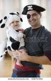 mixed race father baby boy halloween stock photo 636757204