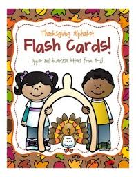 thanksgiving alphabet flash cards by teach prek tpt