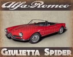 vintage alfa romeo giulia alfa romeo cars metal tin signs alfa romeo cars repair service