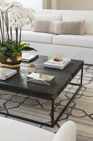 Distressed Coffee Tables by White And Gray Living Room With Black Distressed Coffee Table