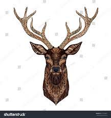 Deer Head by Deer Head Stylized Zentangle Style Tribal Stock Vector 311476487