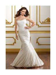 fishtail wedding dress mori 1811 soft satin fishtail style wedding gown with