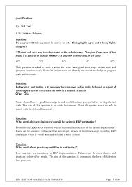 erp testing failures questionnaire