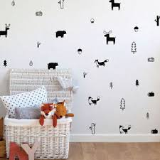 Animal Wall Decals For Nursery Nordic Style Forest Animal Wall Decals Woodland Nursery Vinyl