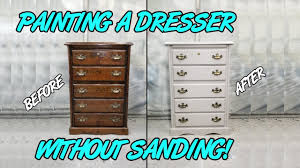 can chalk paint be used without sanding painting a wood dresser without sanding
