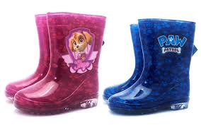 official paw patrol wellies wellington boots kids girls boys pink