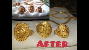 clean gold jewellery at home