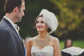statement necklace wedding images Bridal necklace ideas for strapless dress jpg