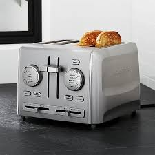 4 Slice Bread Toaster Cuisinart Custom Select 4 Slice Toaster Crate And Barrel