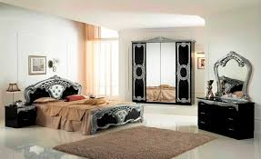 Silver Bedroom Furniture Sets by High Gloss Black U0026 Silver Italian Bedroom Furniture Homegenies