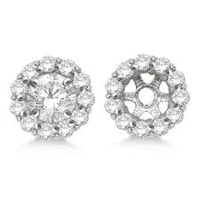 diamond earring jackets diamond earring jackets for 8mm studs 14k white gold 1 00ct