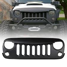 jeep light bar grill angry birds grille for 2007 2016 jeep wrangler xprite
