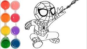 draw u0026 color spiderman baby marvel drawing tutorial