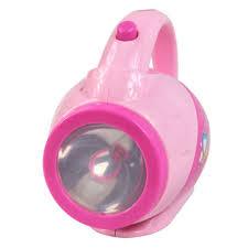 mini pink flashlight torch children house pretend play toy home