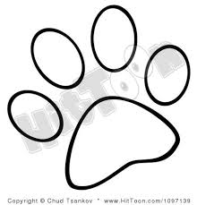 dog paw print clip art free download clipart panda free