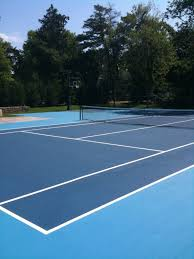 Backyard Tennis Courts Hinding Tennis Courts Tennis Court Construction Court Repair