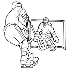 10 free printable hockey coloring pages