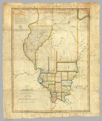Map Of Counties In Illinois by Of Illinois Melish John 1820
