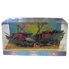 penn plax aerating split shipwreck fish aquarium decoration