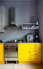 cuisine moderne jaune idée relooking cuisine cuisine grise jaune mur gris modele de