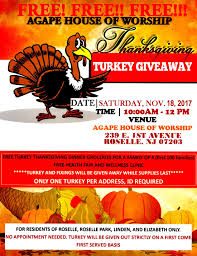 thanksgiving turkey clothing giveaway agape house of worship