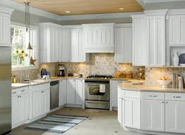 How To Clean White Kitchen Cabinets Clean Kitchen Cabinet Design White And Grey With Backsplash