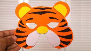 diy mask how to make tiger mask for kids diy birthday gifts