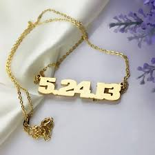 personalized jewelry for men gold plated 925 silver number necklace number plate name necklace